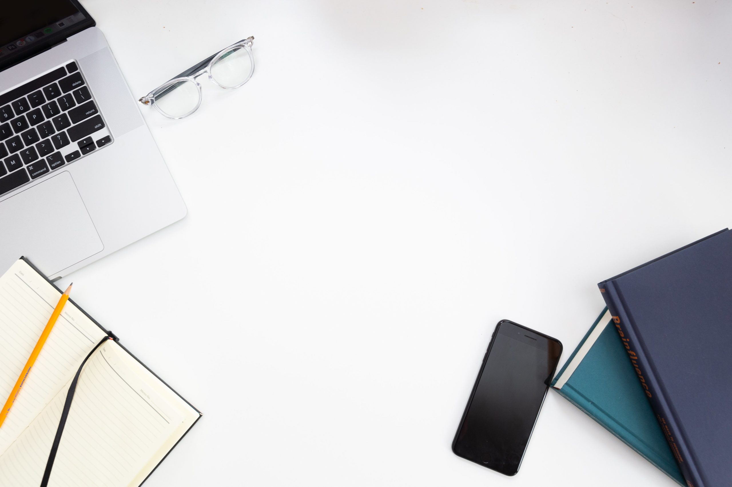 office-work-tools-on-the-white-desk